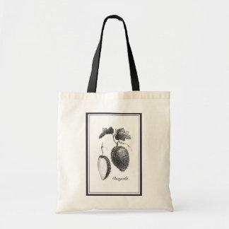 Vintage chayote etching tote bag