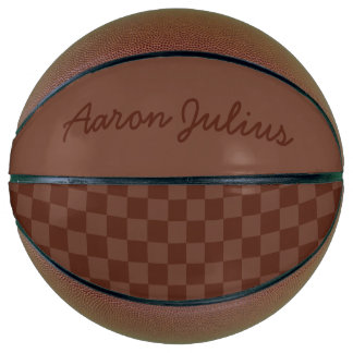 Vintage Checkerboard Personalized Basketball Gift