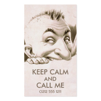 Vintage cheeky man business card