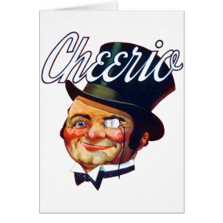 Vintage Cheerio Top Hat Guy Card