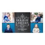 Vintage Cheers 4 Photos Holiday Photo Card Photo Card