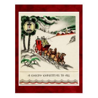 Vintage Cheery Christmas Postcard