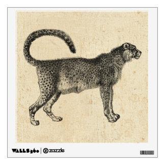 Vintage Cheetah Wall Sticker