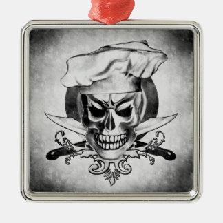 Vintage Chef Skull Ornament