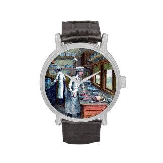 Vintage Chef - Sous-Chef  Illustration Wrist Watch