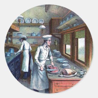 Vintage Chefs Kitchen Stickers