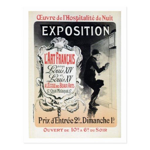 Vintage Chéret French Louis XIV & XV art expo Postcard