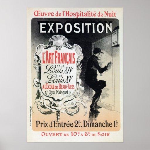Vintage Chéret French Louis XIV & XV art expo Print