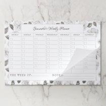 Vintage Cherish Floral Weekly Planner Calendar Paper Pad