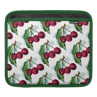 Vintage Cherries Sleeves For iPads