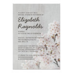 Vintage Cherry Blossom Bridal Shower Invitations Custom Announcements