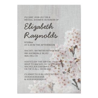 "Vintage Cherry Blossom Bridal Shower Invitations 5"" X 7"" Invitation Card"