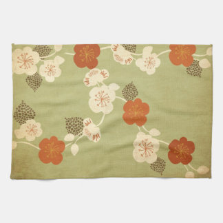 Vintage cherry blossom flowers American MoJo Kitch Hand Towel