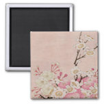 Vintage Cherry Blossom-Japanese 2 Inch Square Magnet