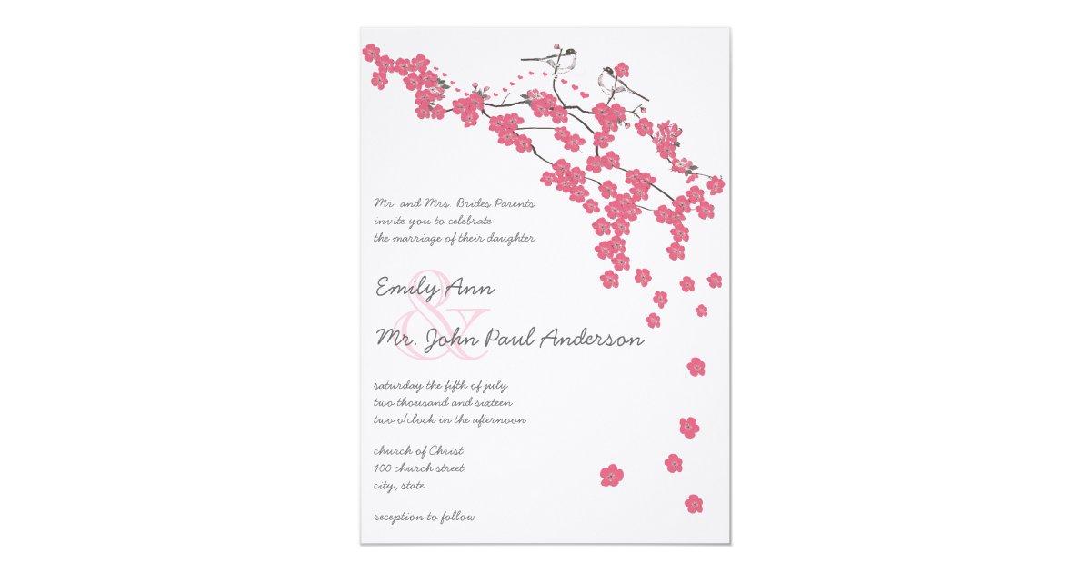 Vintage Cherry Blossom Japanese Wedding Invite | Zazzle.com