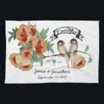 "Vintage Cherry Blossom Love Bird Peach Mint Hand Towel<br><div class=""desc"">Vintage Cherry Blossom Love Bird Peach Mint</div>"