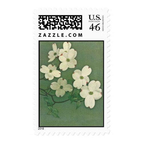 Vintage Cherry Blossom Postage stamp