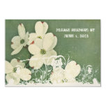 Vintage Cherry Blossom RSVP with envelopes Personalized Invites