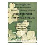 Vintage Cherry Blossom Wedding Invitation