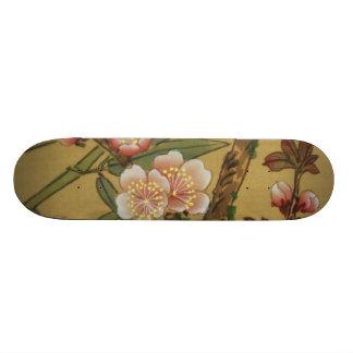 Vintage Cherry Blossoms Antique Asian Art Skateboard