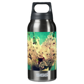 Vintage Cherry Blossoms Insulated Water Bottle