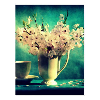 Vintage Cherry Blossoms Postcard