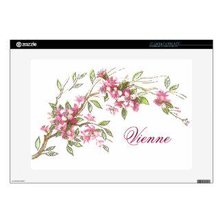 "Vintage Cherry Blossoms Skins For 15"" Laptops"