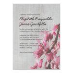 Vintage Cherry Blossoms Wedding Invitations Custom Invitations