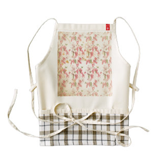 Vintage Cherry Blossoms Zazzle HEART Apron