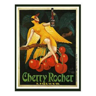 Vintage Cherry Rocher Advertisement Postcard