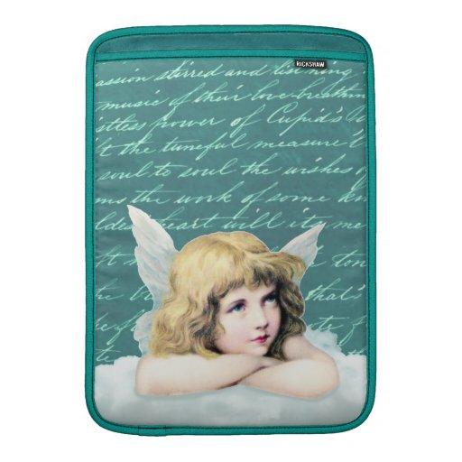 Vintage cherub angel on a cloud MacBook air sleeve