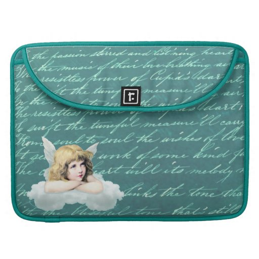 Vintage cherub angel on a cloud sleeves for MacBook pro
