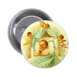 Vintage Cherub New Baby Shower Gift Gender Neutral Pins