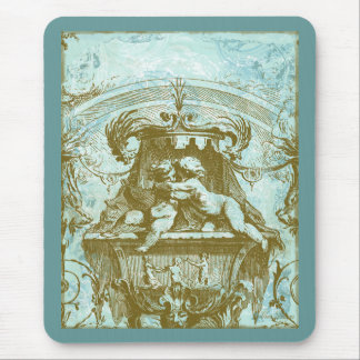 Vintage Cherub Save the Date Design Mouse Pad