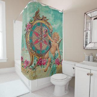 vintage cherub shower curtain