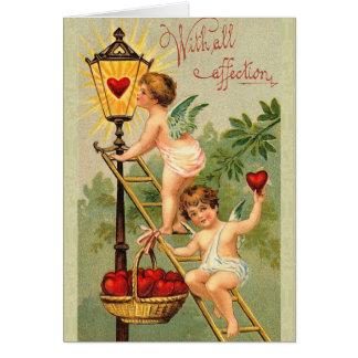 Vintage Cherub Valentine Card