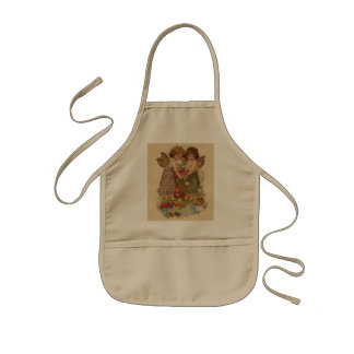vintage cherub valentine kids' apron