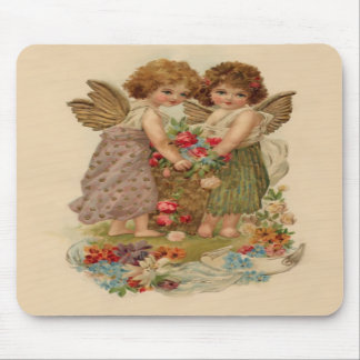 vintage cherub valentine mousepads