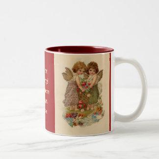 vintage cherub valentine mugs