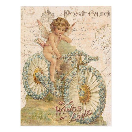 Vintage cherub Valentine postcard