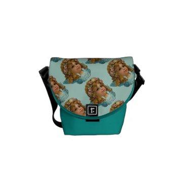 Aqua Vintage Cherubin Graphic Messenger Bag