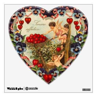 Vintage Cherubs Valentine Heart Room Sticker