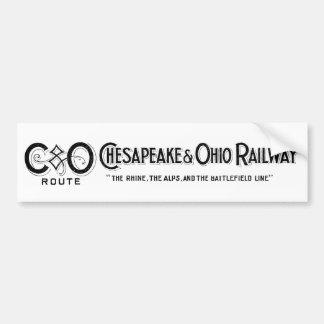 Vintage Chesapeake & Ohio Railroad Logo 2 ca.1897 Bumper Sticker