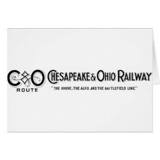 Vintage Chesapeake & Ohio Railroad Logo 2 ca.1897 Greeting Cards