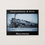 """Vintage Chesapeake &amp; Ohio  Railroad Train Engine Jigsaw Puzzle<br><div class=""""desc"""">Vintage Chesapeake &amp; Ohio  Railroad Train Engine 470</div>"""