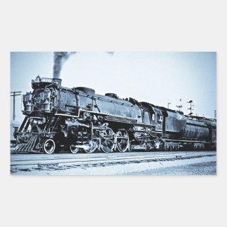 Vintage Chesapeake & Ohio  Railroad Train Engine Rectangular Sticker