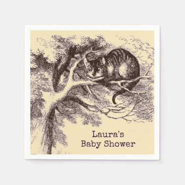 Toddler & Baby themed Vintage Cheshire Cat Baby Shower Napkin
