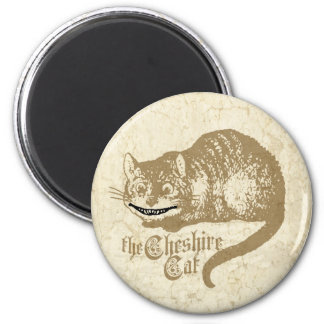 Vintage Cheshire Cat Illustration 2 Inch Round Magnet