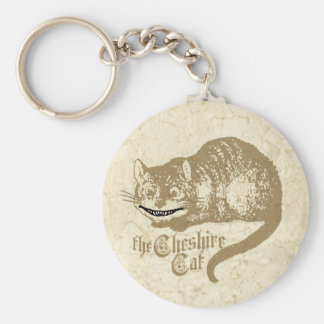 Vintage Cheshire Cat Illustration Keychain