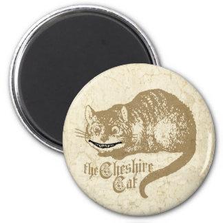 Vintage Cheshire Cat Illustration Magnet